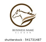 horse logo template vector   Shutterstock .eps vector #541731487