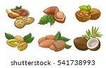 set of cartoon vector... | Shutterstock .eps vector #541738993