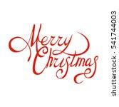 merry christmas vector text... | Shutterstock .eps vector #541744003