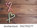 wooden brown background with... | Shutterstock . vector #541753177