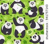 seamless pattern panda bear  ... | Shutterstock .eps vector #541757143
