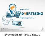 advertising and marketing... | Shutterstock .eps vector #541758673