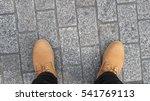 man yellow boot shoe top view... | Shutterstock . vector #541769113