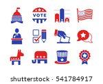 november 8  2016  the united... | Shutterstock .eps vector #541784917