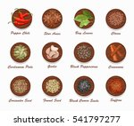 different kinds of spices on... | Shutterstock .eps vector #541797277