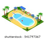 realistic isometric outdoor... | Shutterstock .eps vector #541797367