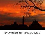background blur landmark mosque ... | Shutterstock . vector #541804213