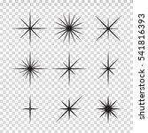 vector set of sparkle lights...   Shutterstock .eps vector #541816393