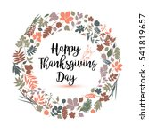 happy thanksgiving day in... | Shutterstock . vector #541819657