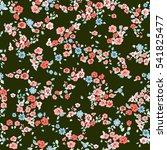 flowery cute pattern in small... | Shutterstock .eps vector #541825477