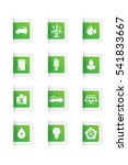 set of ecological white icons... | Shutterstock .eps vector #541833667