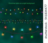 christmas house lights on a... | Shutterstock .eps vector #541834477