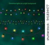 christmas house lights on a... | Shutterstock .eps vector #541834477