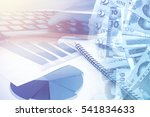 business graph and online... | Shutterstock . vector #541834633