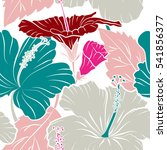 vintage style. tropical flowers ... | Shutterstock .eps vector #541856377