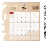 2017 calendar planner design ... | Shutterstock .eps vector #541860127