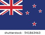 new zealand flag. vector format | Shutterstock .eps vector #541863463