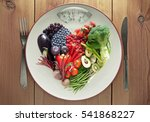 diet concept heart shape food | Shutterstock . vector #541868227