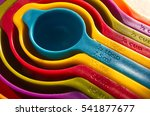a set of measuring spoons made... | Shutterstock . vector #541877677