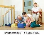 ordinary three generations...   Shutterstock . vector #541887403