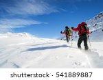 ski mountaineering in snowstorm | Shutterstock . vector #541889887