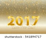 gold vector snowfall on gold... | Shutterstock .eps vector #541894717