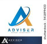 adviser symbol letter. finance... | Shutterstock .eps vector #541899433
