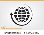 globe and arrow icon vector eps ... | Shutterstock .eps vector #541923457