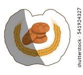 isolated bread design | Shutterstock .eps vector #541924327