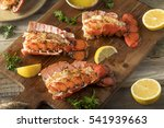 seasoned baked lobster tails... | Shutterstock . vector #541939663
