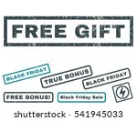 free gift rubber seal stamp...   Shutterstock .eps vector #541945033