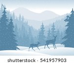 vector mountains forest... | Shutterstock .eps vector #541957903