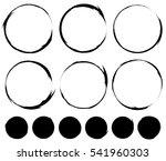 circular painted circles.... | Shutterstock .eps vector #541960303