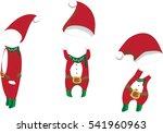 vector christmas clothes set.   | Shutterstock .eps vector #541960963