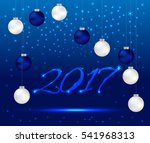 happy new year 2017 greeting... | Shutterstock .eps vector #541968313