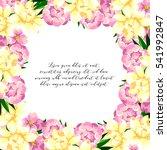 romantic invitation. wedding ... | Shutterstock .eps vector #541992847