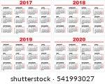 set grid wall calendar for 2017 ...   Shutterstock . vector #541993027