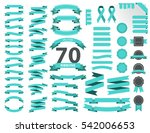 blue vintage ribbon vector... | Shutterstock .eps vector #542006653