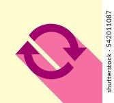 arrow sign reload refresh... | Shutterstock .eps vector #542011087