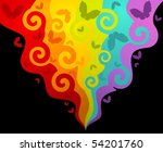 grunge background. beautiful... | Shutterstock .eps vector #54201760