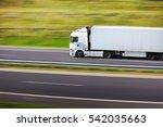 truck transportation | Shutterstock . vector #542035663