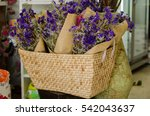 statice bouquet of dried in... | Shutterstock . vector #542043637