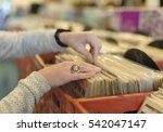 close up on woman's hands... | Shutterstock . vector #542047147