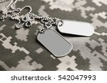 army tokens on military uniform ... | Shutterstock . vector #542047993