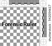 csi forensic ruler  ruler... | Shutterstock .eps vector #542054617