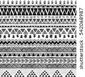 black and white tribal vector... | Shutterstock .eps vector #542068987