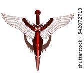knife with wings | Shutterstock .eps vector #542072713