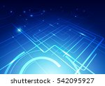 abstract lines and circles... | Shutterstock .eps vector #542095927