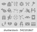 valentine icon set | Shutterstock .eps vector #542101867
