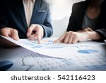 business team two colleagues... | Shutterstock . vector #542116423